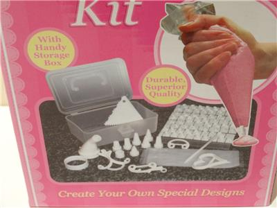Brand New Cake Decorating Kit, 100 Pieces with Storage Box ...