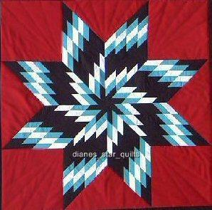 Whirlwind Native American Star Quilt Pattern By Diane Hill