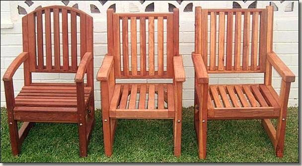 Wood RedWood Outdoor Patio Furniture 7 Rec Table Set