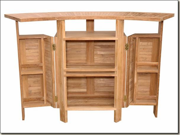 outdoor porch patio furniture solid teak wood folding bar table and 4 chairs set ebay. Black Bedroom Furniture Sets. Home Design Ideas