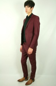 Details about TOPMAN BURGUNDY SLIM FIT FULL SUIT BLAZER JACKET 36 XS