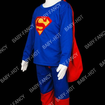 D088-7-Superman-Kostuem-fuer-Kinder-Halloween-Gr-98-104