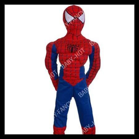 D152-Jungen-Spiderman-Kinder-Kostuem-mit-Muskeln