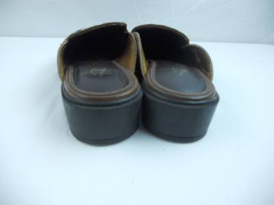 Details about Life Stride Womens Shoes 6.5 M Brown Slide Slip On 1.25