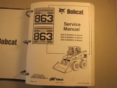BOBCAT 863 Turbo G Skid Steer Loader SERVICE MANUAL