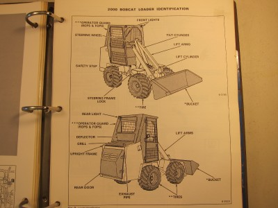 BOBCAT 2000 Articulated Loader SERVICE MANUAL 1983