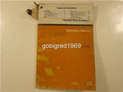 Case 1835B Uni Loader Operators Manual More Manuals Listed