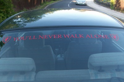 YOULL NEVER WALK ALONE** LFC LOGO DECAL STICKER