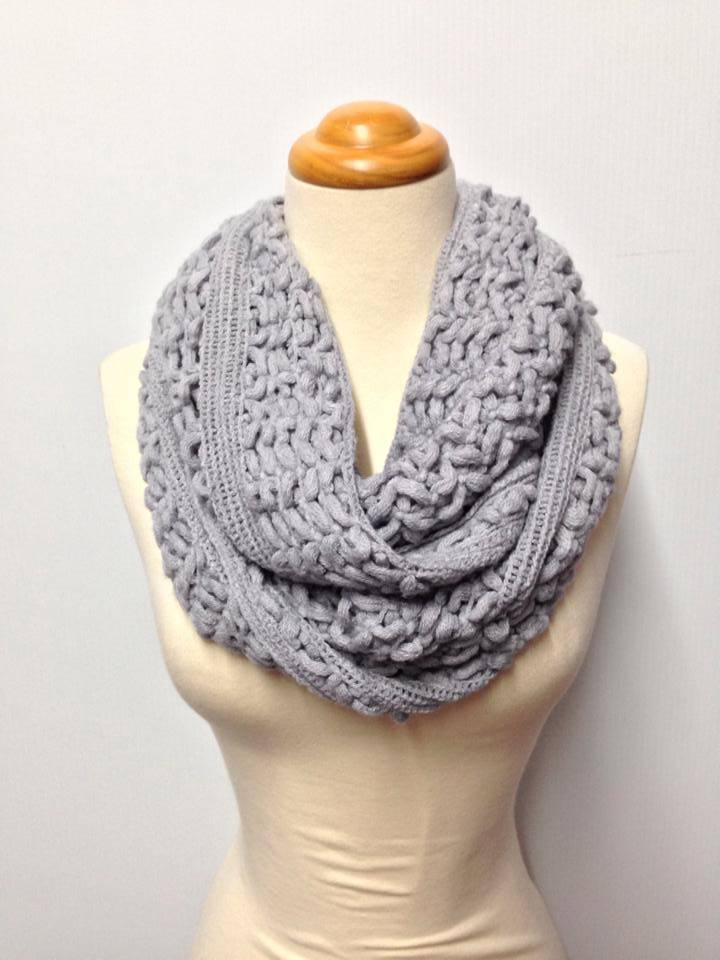 Two Color Knit Scarf Pattern : Two Knit Pattern 9 Color Infinity Scarf eBay