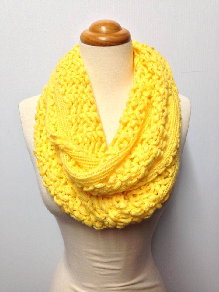 Two Colour Scarf Knitting Pattern : Two Knit Pattern 9 Color Infinity Scarf eBay