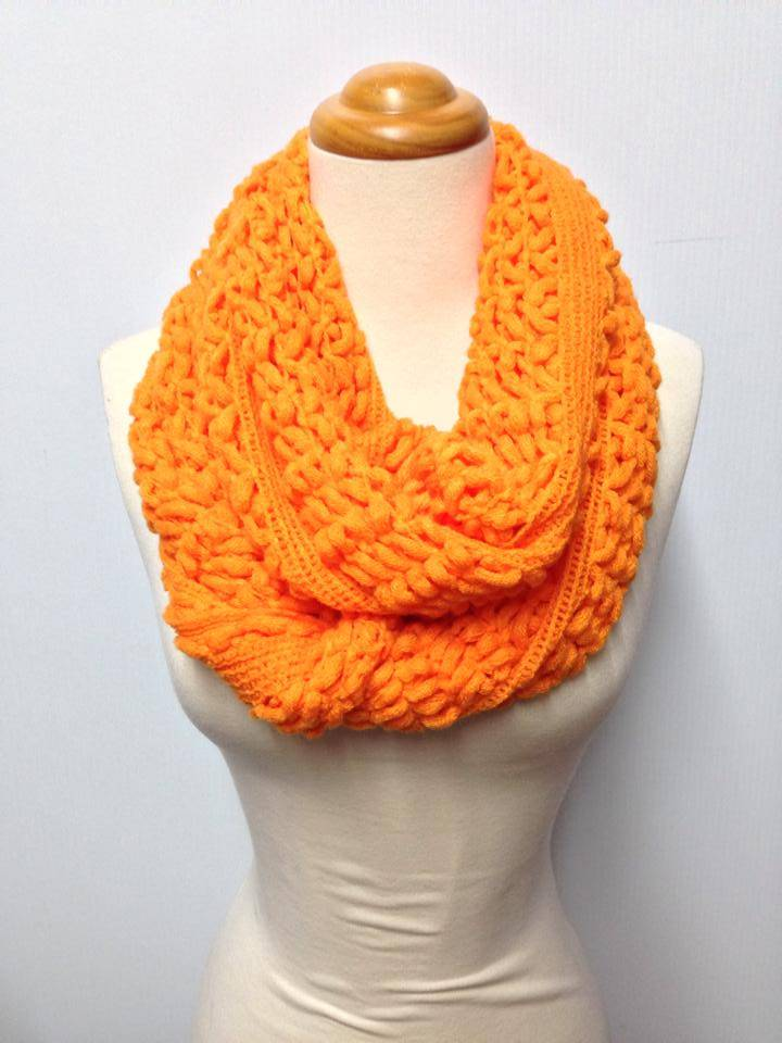 Two Knit Pattern 9 Color Infinity Scarf eBay