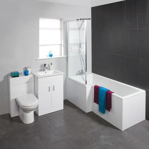 complete luxury square shower bath bathroom suite ebay