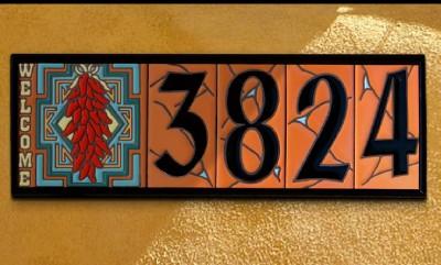 House number address ceramic tile anodized aluminum frame for House number frames