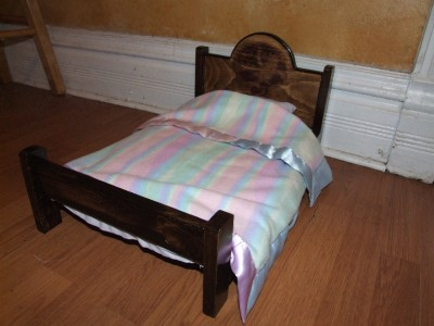 Doll Beds Wooden on 18 Doll Wooden Bed Handmade For American Girl Size ...