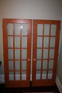 Two solid wood interior french doors 15 lite 30 x 80 ebay for 15 lite french door interior