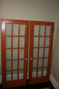 Two solid wood interior french doors 15 lite 30x 80 - Solid wood french doors interior ...