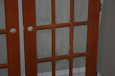 Two solid wood interior french doors 15 lite 30 x 80 ebay - Solid wood french doors interior ...