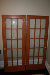 Two Solid Wood Interior French Doors 15 Lite 30 X 80 Ebay