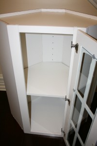 New Tall White Kitchen Corner Cabinet with glass door 42 ...