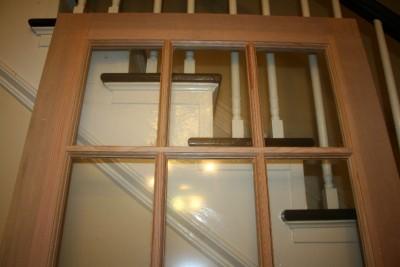 Exterior fir wood door 15 lite tempered glass french style for 15 light exterior wood door