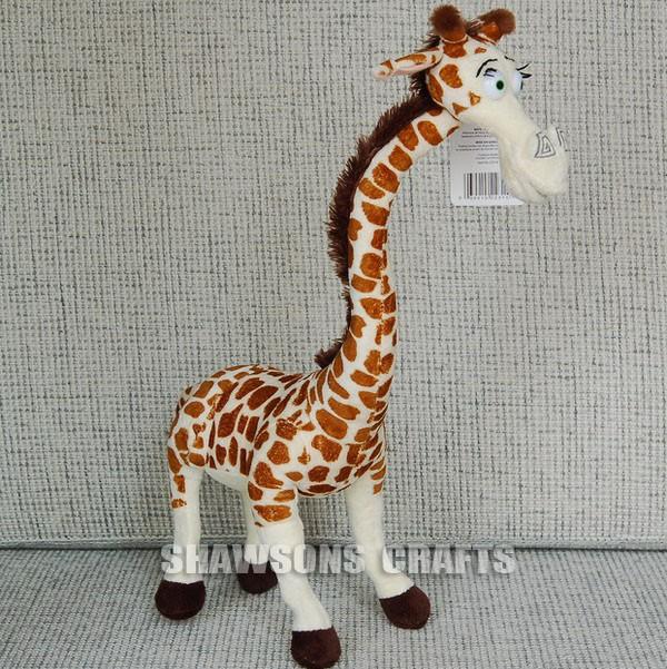 Madagascar plush stuffed toys giraffe 22 melman soft doll - Girafe madagascar ...