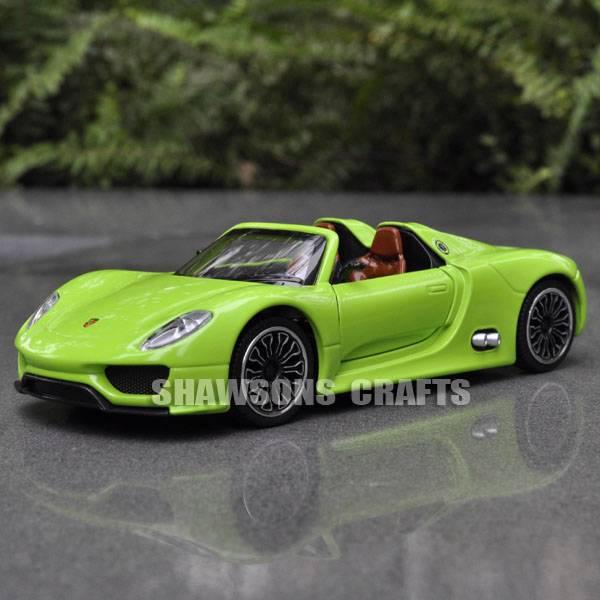 diecast metal 1 32 model car toys sound light pull back porsche 918 spyder. Black Bedroom Furniture Sets. Home Design Ideas