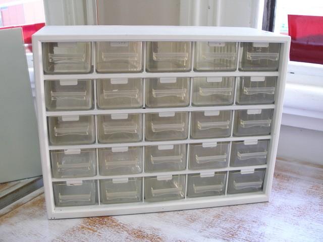 Retro Plastic Storage 25 Drawer Orgainiser Clear