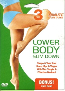 30 minute lower body slim down buns hips thighs toning workout exersise dvd new ebay. Black Bedroom Furniture Sets. Home Design Ideas