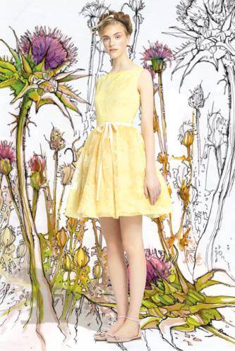 New-2014-Red-Valentino-Embroidered-Silk-Airy-Dress-in-Yellow-or-Pink-38-46-995