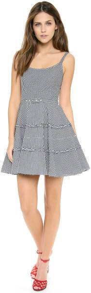 New-2014-AUTH-Red-Valentino-Check-Flirty-Tank-Dress-in-Navy-650-Sold-OUT