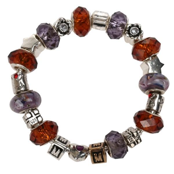 silver-lampwork-glass-cats-eye-crystal-European-bracelet-beads-charms-Jewelry