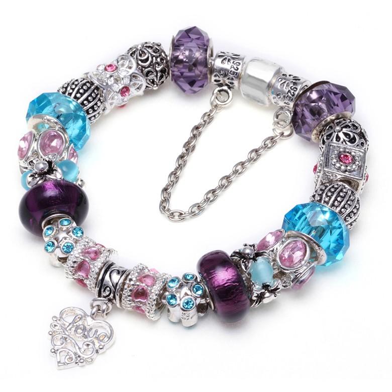 smart bands european charm bracelet murano glass cz silver