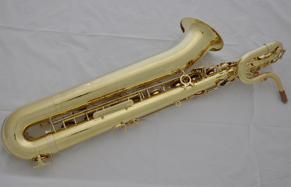 Prof Taishan Unlacquer Brass Baritone Saxophone Eb Sax Low
