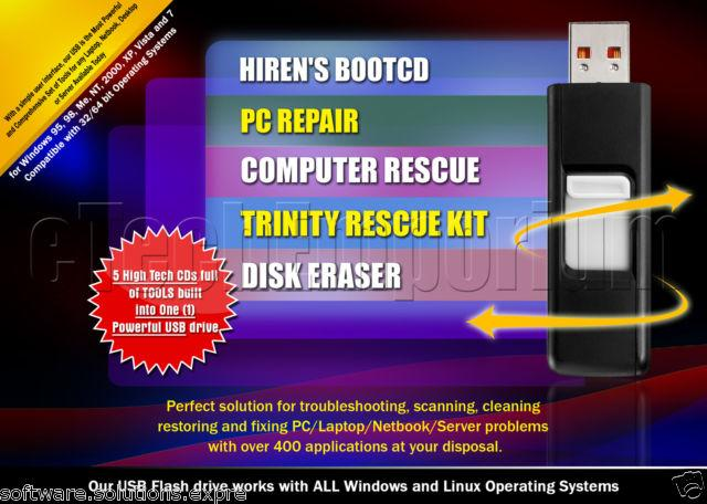 how to put trinity rescue kit on usb