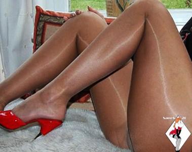Ultra sheer shiny pantyhose