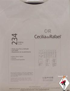 Cdr cecilia de rafael glossy shiny sheer to waist 15 denier pantyhose