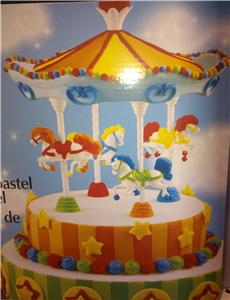 Pin 15pc wilton carousel birthday baby shower cake topper ebay cake on pinterest - Wilton baby shower cake toppers ...