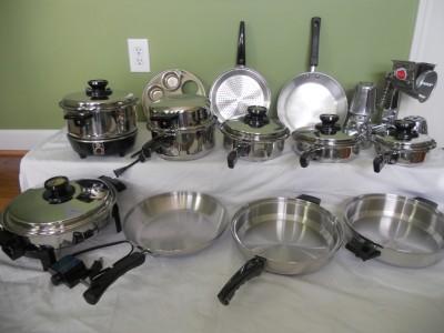 Kitchen craft west bend waterless stainless steel cookware for Kitchen craft waterless cookware