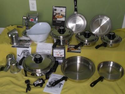 Americraft kitchen lustre craft waterless stainless for Kitchen craft waterless cookware