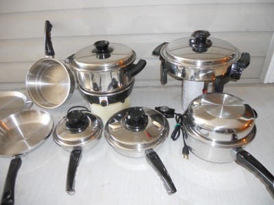 lustre craft west bend waterless stainless cookware set