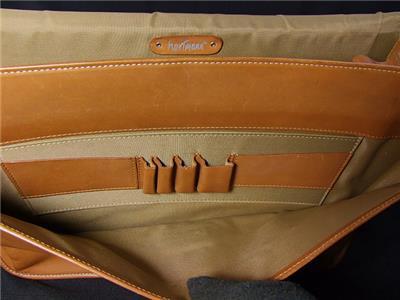 Hartmann British Tan Belting Leather Portfolio Messenger