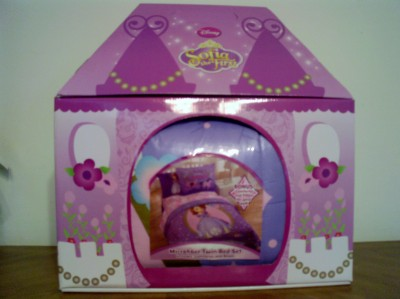 Sofia The First Throw And Pillow Set : Disney Store Sofia The First NIP Girl Twin Comforter with matching pillow sham eBay