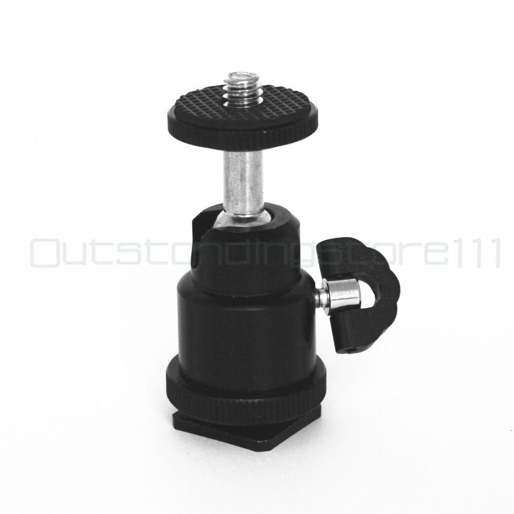 Light Stand Head Adapter: 360° Ball Head Flash Mount/Holder/Tripod Br Acket/adapter