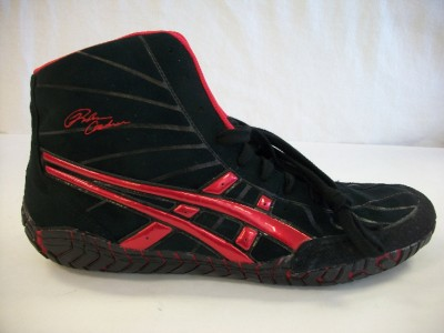 asics rulon black gold wrestling shoes