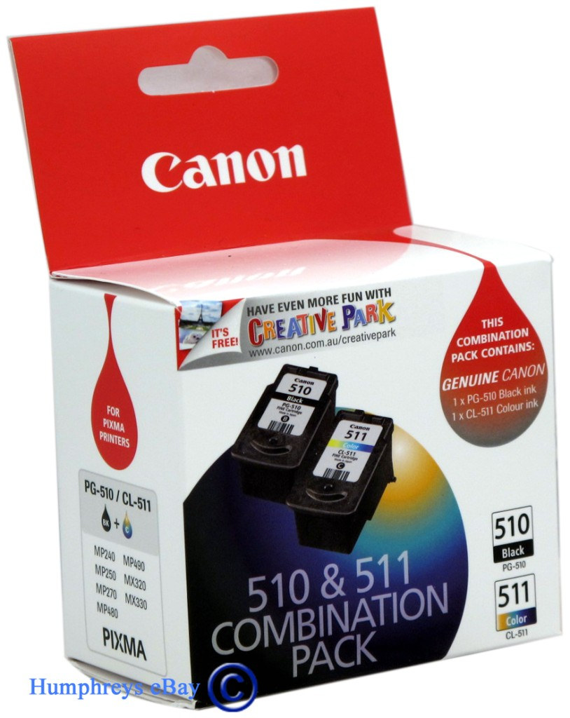 new genuine ink cartridge canon 510 511 combo pack. Black Bedroom Furniture Sets. Home Design Ideas