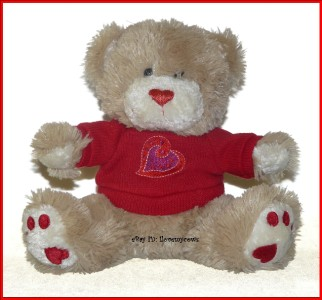 Walmart Valentine Teddy Bear Heart Sweater Plush Lovey Toy