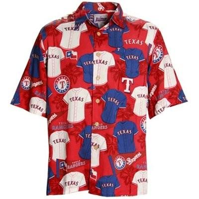 reyn spooner mlb texas rangers baseball hawaiian shirt ebay