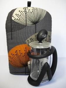 Sanderson Dandelion Clocks Vtg Retro 50s Fabric Coffee Cafetiere Cover Cosy Slt Ebay