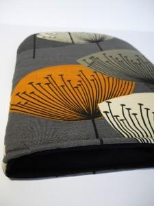 Sanderson Dandelion Clocks Vtg Retro 50s Fabric Coffee