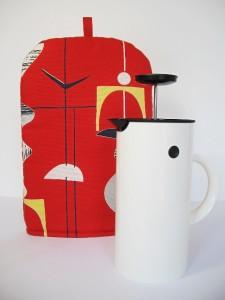 Sanderson Mobiles Vtg Retro 50s Lucienne Day Fabric Coffee